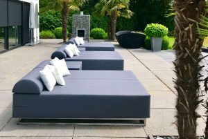 Design loungebank tuin